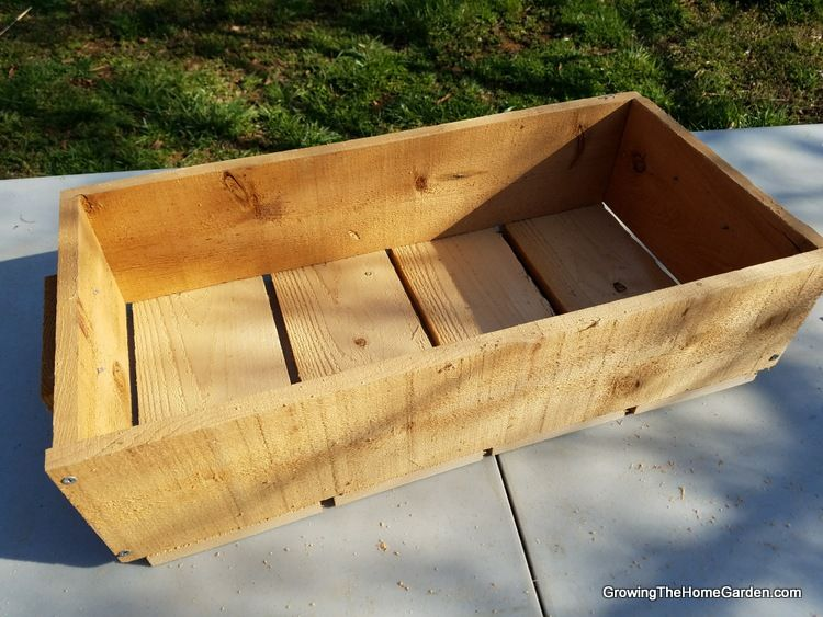 Portable Planter Box Project made of Cedar Fence boards - could be