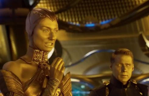 Ben Browder As The Sovereign Admiral In Guardians Of The Galaxy Vol 2 Guardians Of The Galaxy Guardians Of The Galaxy Vol 2 Ben Browder