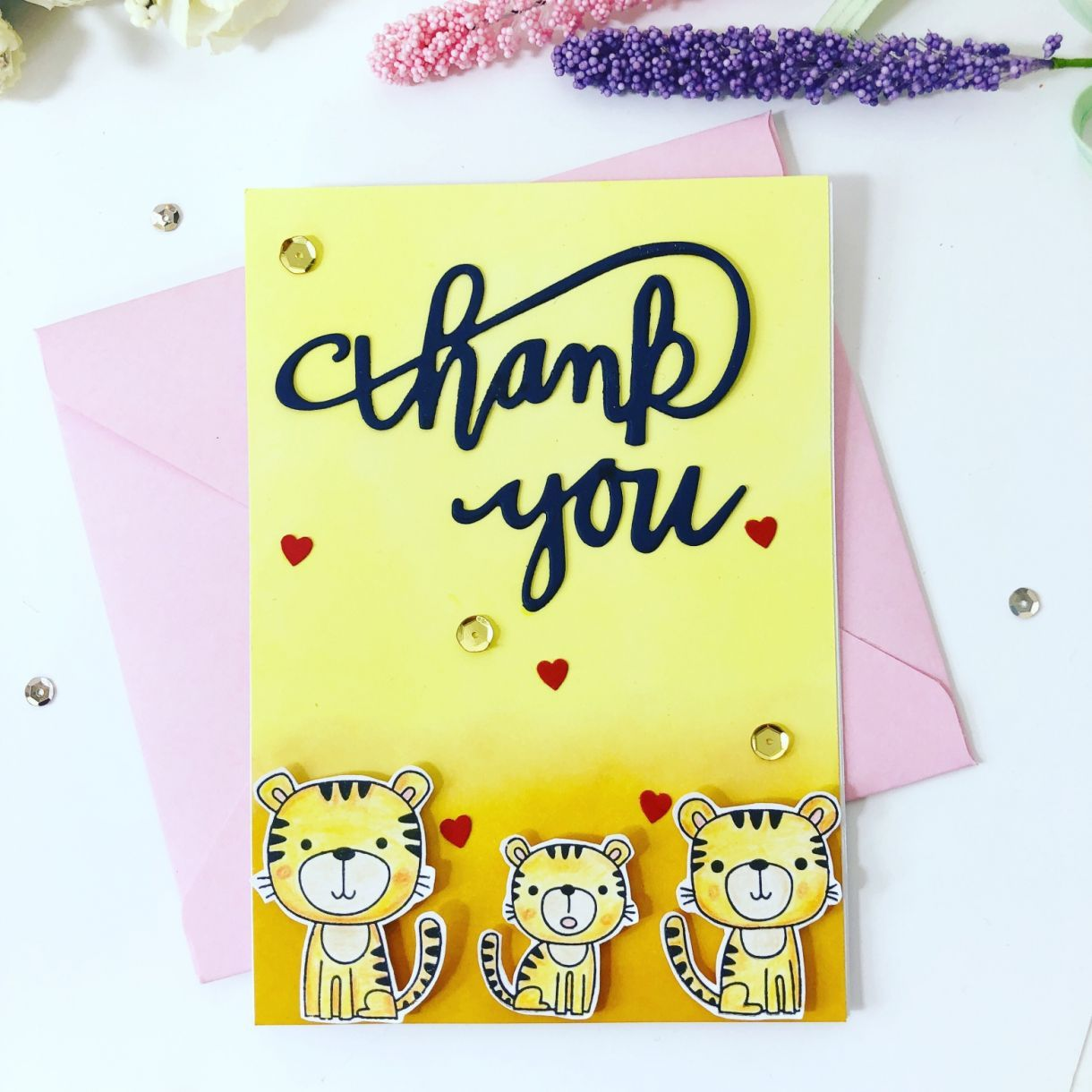 how to make a cute cubs thank you card  beautiful