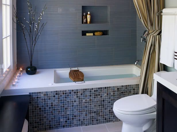 We Have A Tiny 5x7 Bathroom With A Tub Tucked Into One Side Just