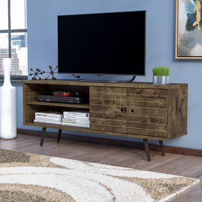Lewis 62 99 Mid Century Modern Tv Stand With 3 Shelves And 2