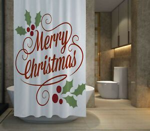 HOT SALE Merry Christmas Shower Curtain size 60x72  72x72 Free Shipping