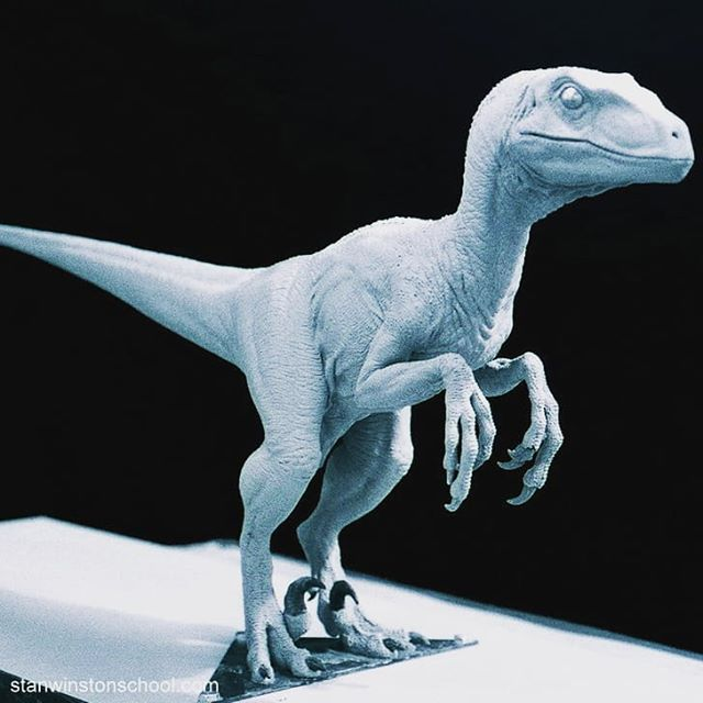 Clever Girl Raptor: Clever Girl. The 1:5th Scale Model Sculpted In Clay By