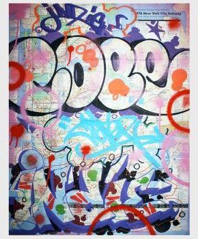 Nyc Subway Map 2011.Cope2 Indie 184 Graffiti Subway Map Keepin It 2gether Nyc