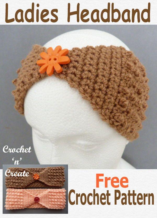 Crochet Ladies Headband Free Crochet Pattern | Crochet | Pinterest ...