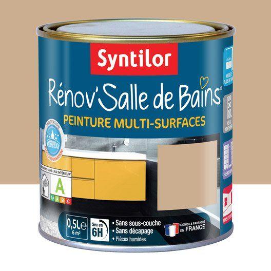 Peinture Renov Salle De Bains Syntilor Beige Sable 0 5l Peinture Cuisine Peinture Salle De Bain Salle De Bain
