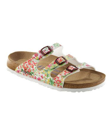 a2c84c9732ea Take a look at this White Springflower Florida Slide - Women by Papillio on   zulily today!