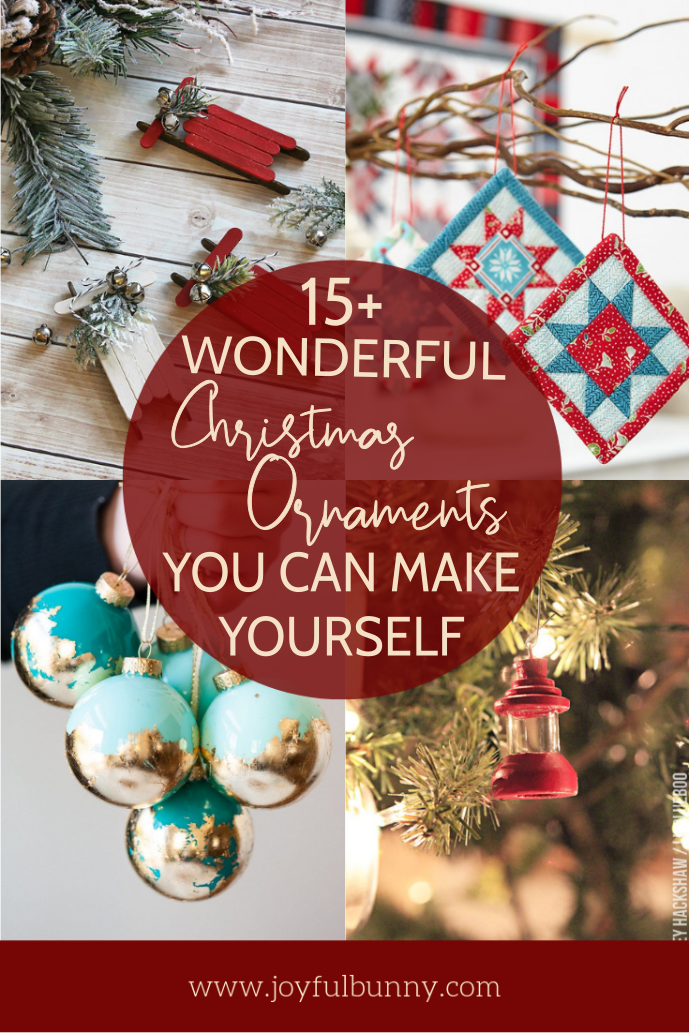 15 Wonderful Christmas Ornaments You Can Make Yourself Joyful Bunny Christmas Ornaments Diy Christmas Ornaments Christmas Diy