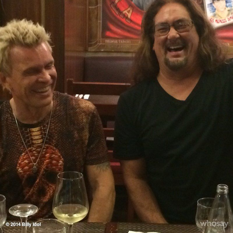 Billy Idol With Evil McG at Bucharest band crew dinner!