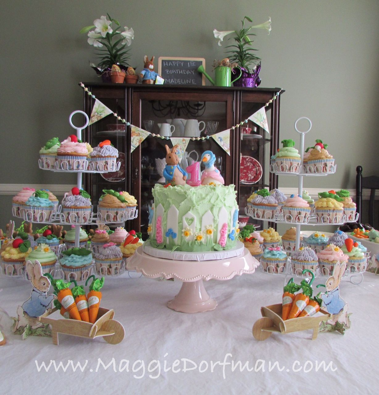 Garden decor for baby shower  Peter Rabbit Baby Shower Cakes  baby shower cupcakes easy  Baby