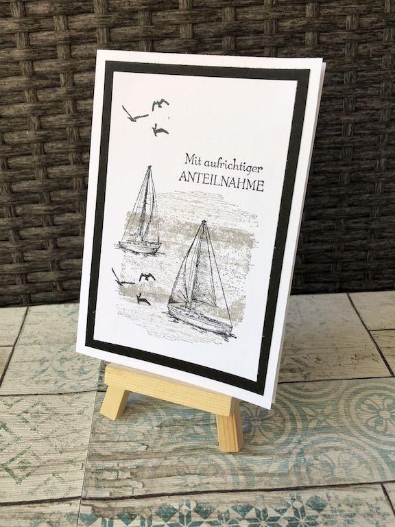 Maritime Trauerkarte #stampinup!cards