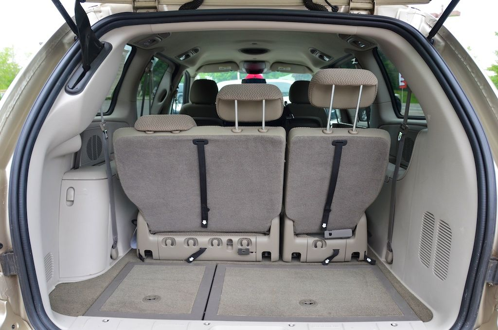The Trunk Open With The Seats Up Of The 2007 Dodge Grand Caravan