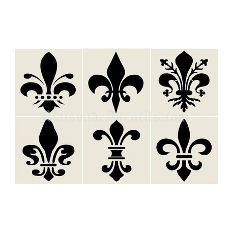 Fleur De Lis 8x8 Stencil Collection