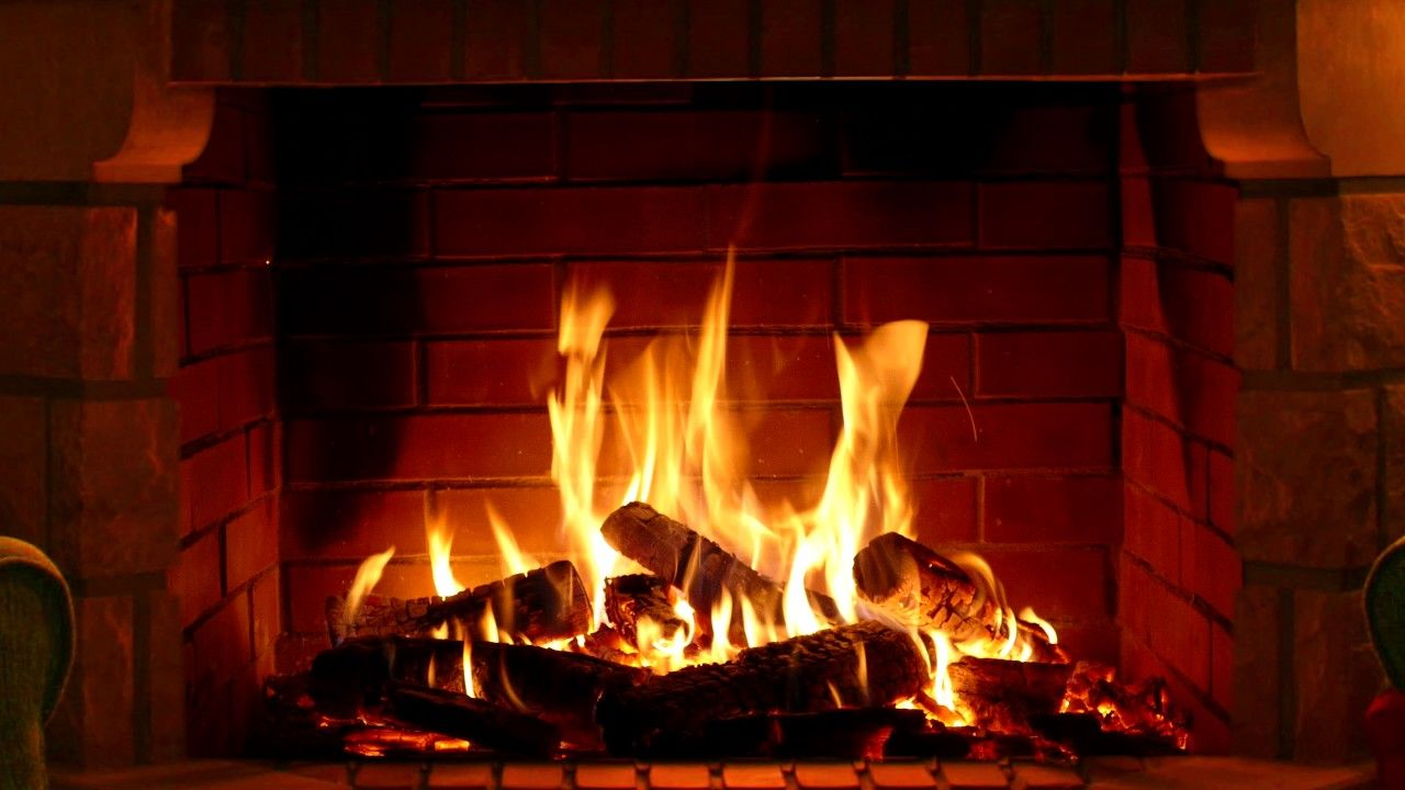 Fireplace - Full HD and 4K - 3 hours crackling logs for Christmas ...