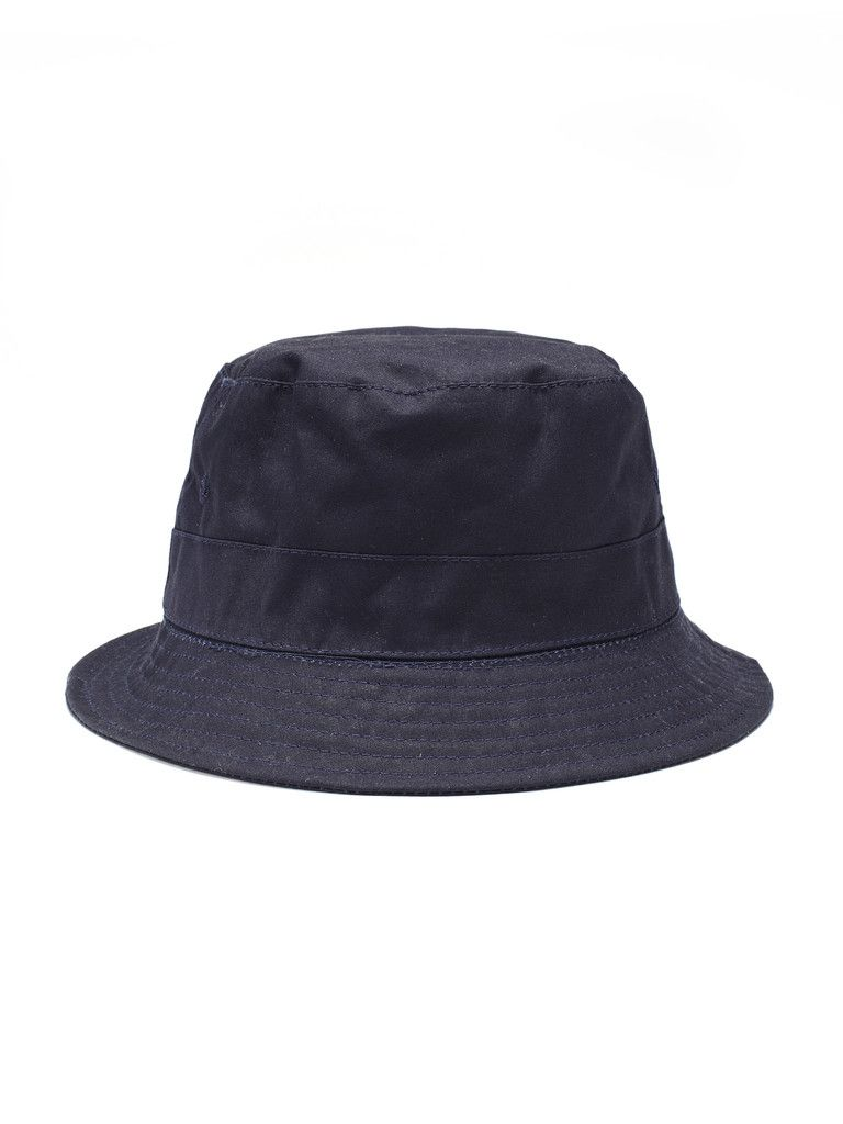 53389881a9d WITTMORE — Universal Works — Universal Works Navy Blue Wax Dry Bucket Hat  http