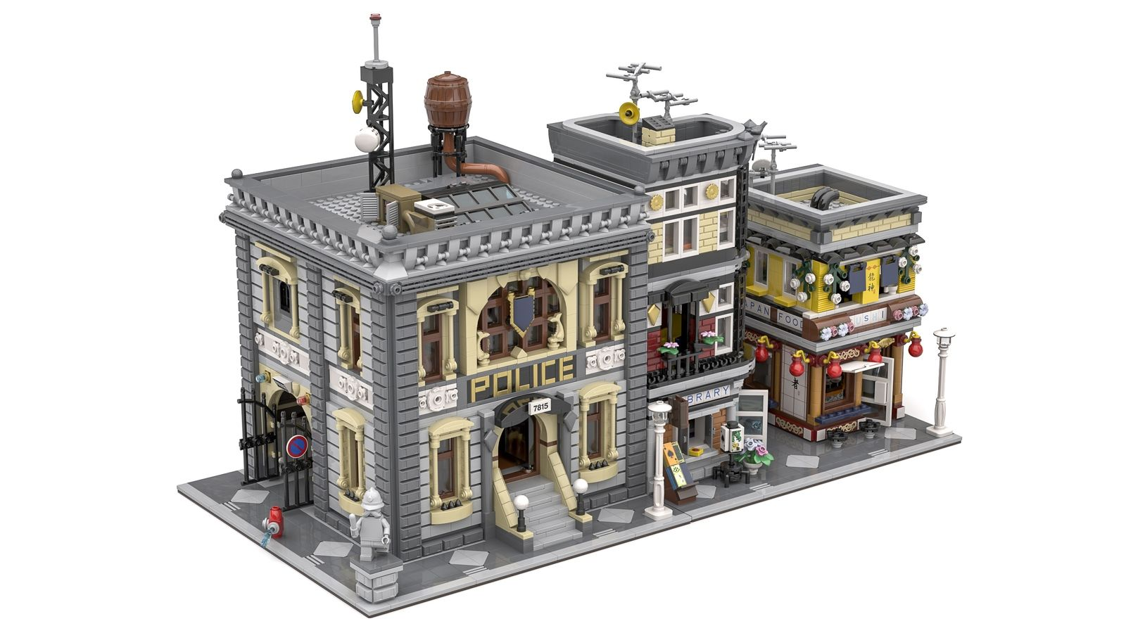 The Old Police Station Lego Lego House Lego Trains Lego