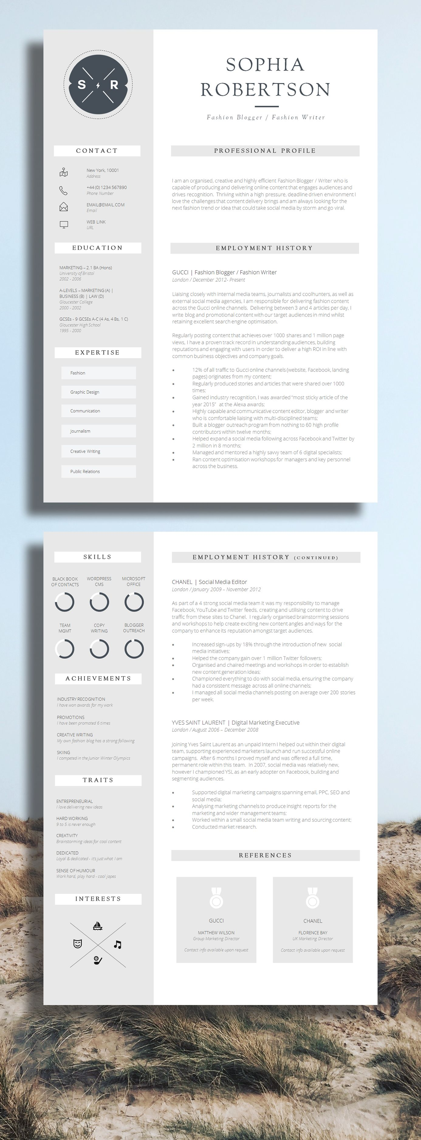 creative resume template teacher resume creative cv design get more interviews take your job application to the next level cv templates