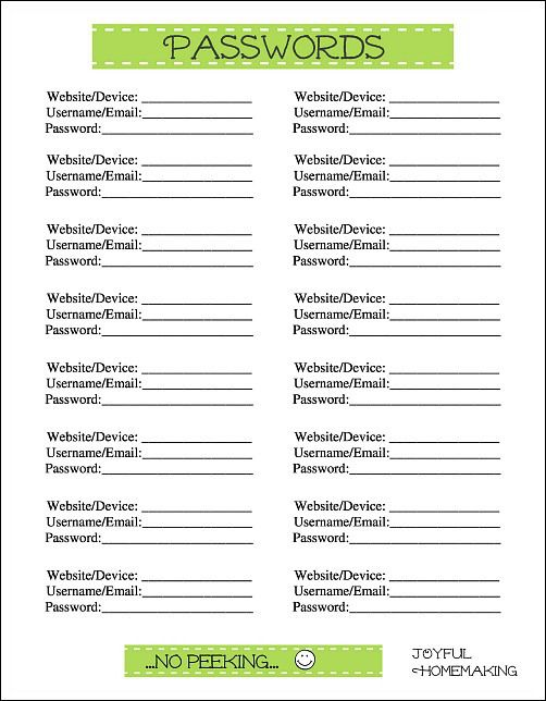 picture about Free Password Keeper Template Printable identified as No cost Pwords Printables Do-it-yourself Initiatives Cost-free pword