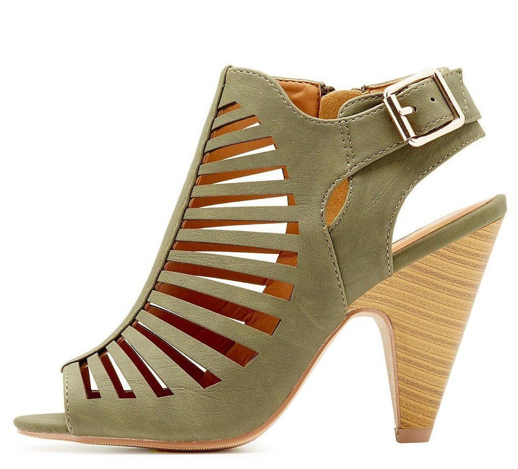 e5e9fb5213d NEW Fashion Strappy Caged Kitten Chunky Heel Women s Sandal Shoes Size 6 -  11
