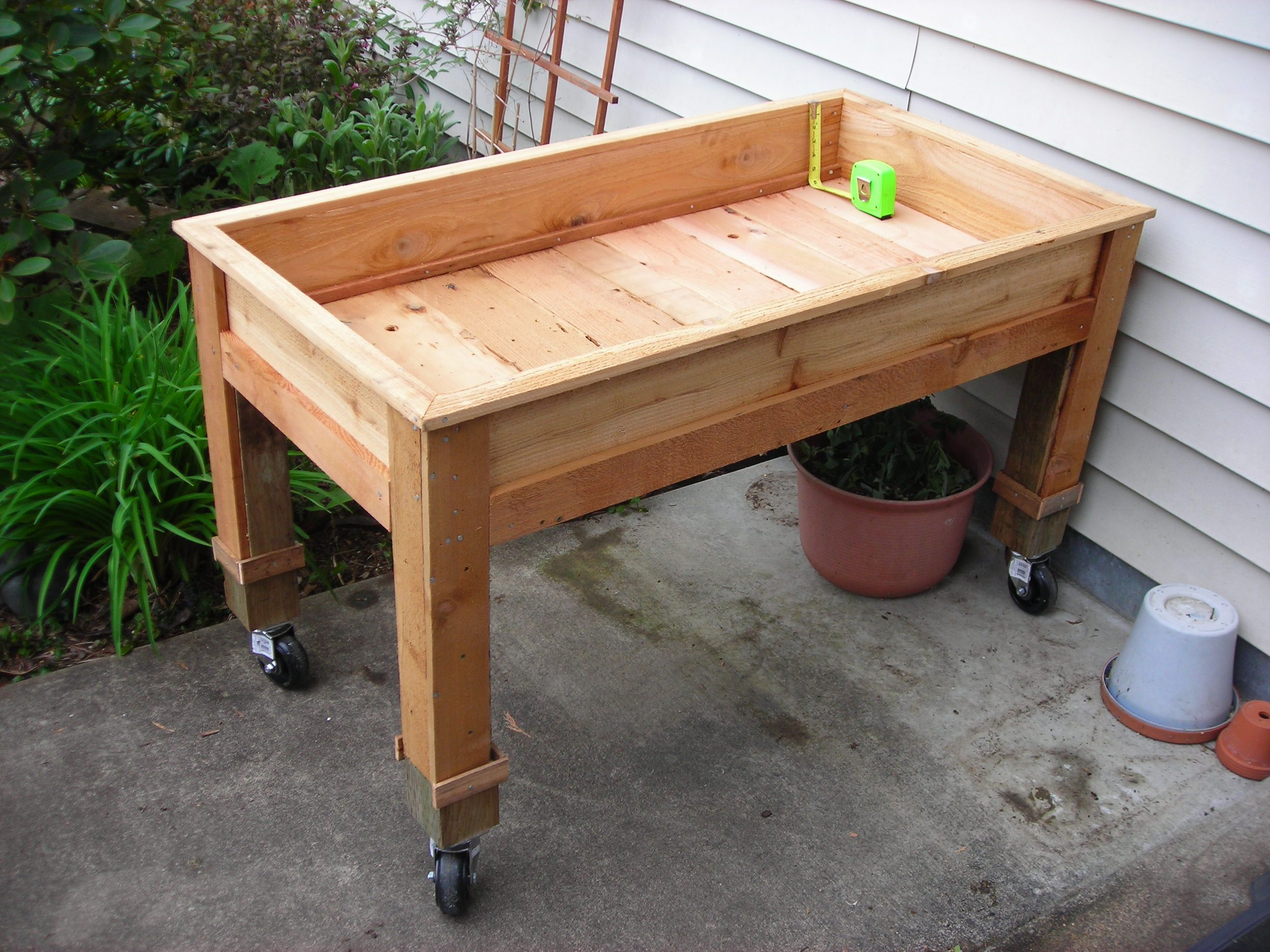 Beautiful Diy Raised Garden Beds On Legs Part - 10: Question About Portable Garden Bed (gardening For Beginners Forum At  Permies)