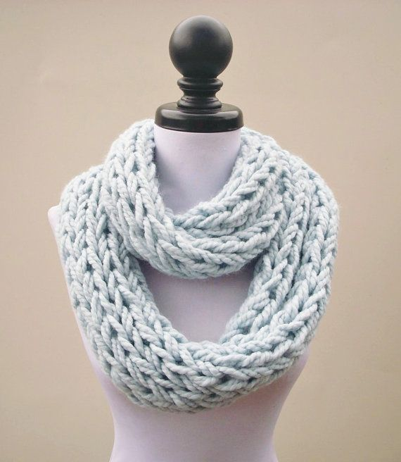 Instant Download Knitting Pattern Infinity Scarf By Pixiebell Diy