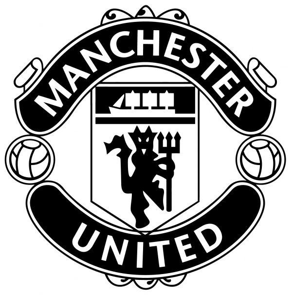 Логотип манчестер юнайтед черно белый