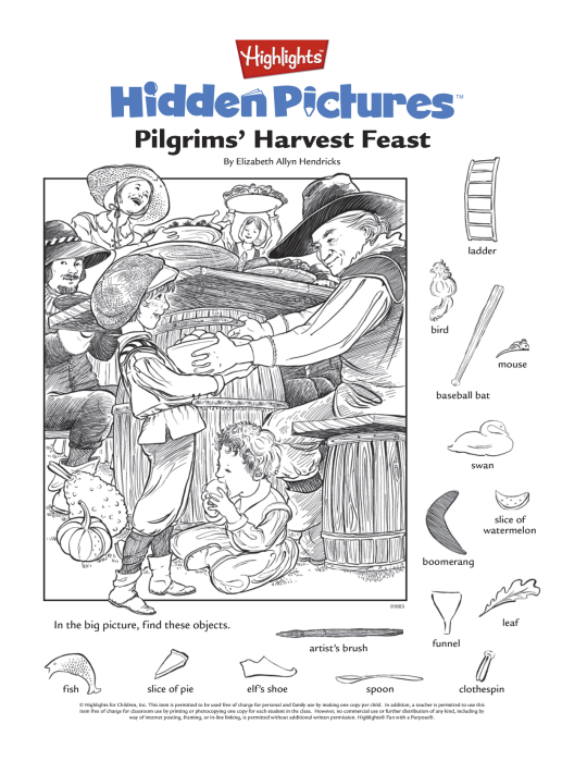 Here S A Free Printable Hidden Pictures Puzzle For The Kids Table