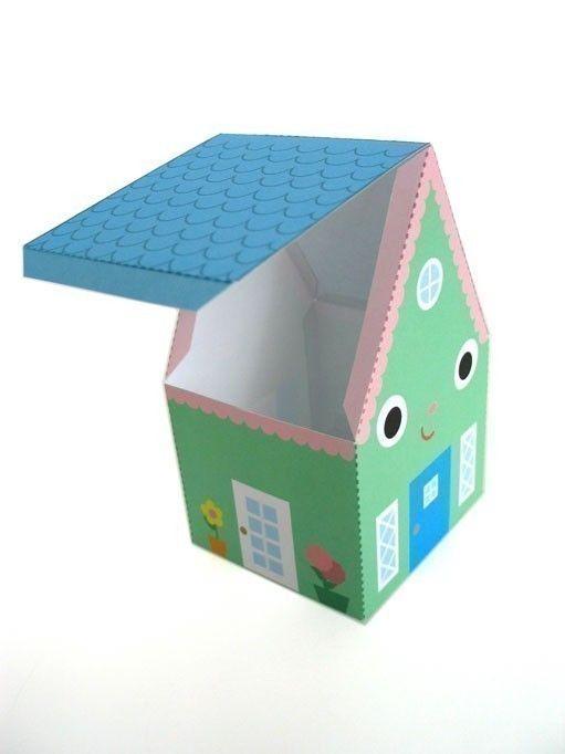 Happy Home Favor Box Printable Paper Craft Pdf My Craft