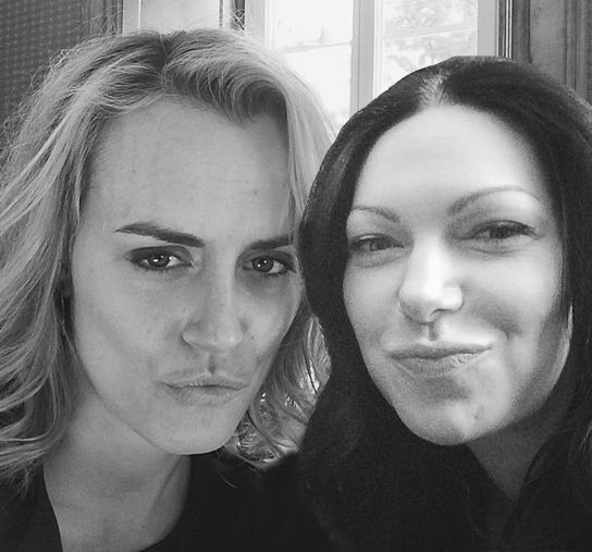 OITNB Taylor Schilling and Laura Prepon