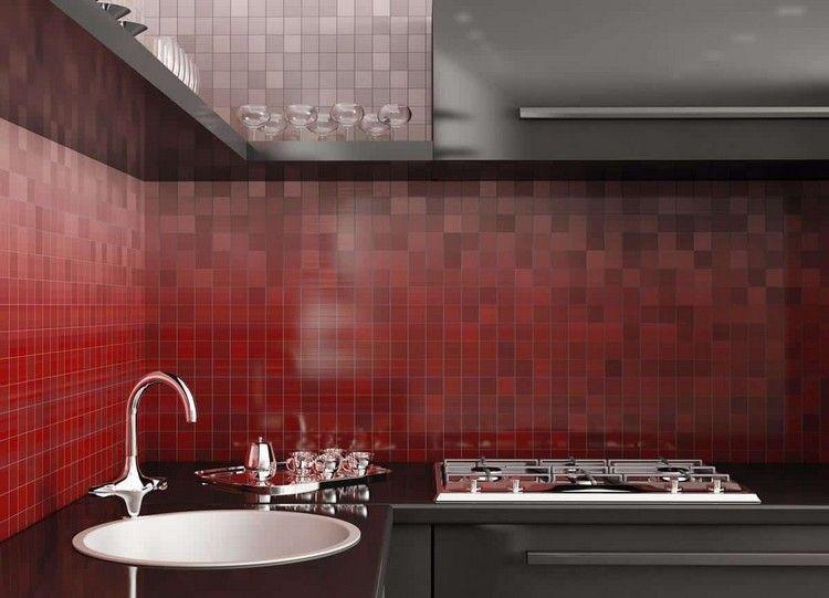 Piastrelle colorate per cucina spazio cucina