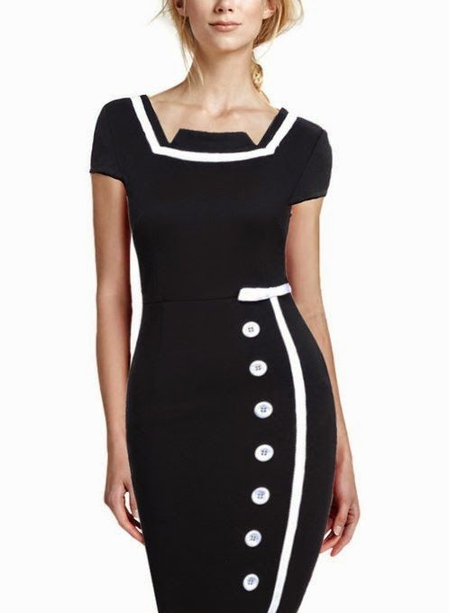 Sailor Nautical Pinup Rockabilly Vintage Retro Pencil Dress- buy it here ! $14.35-33.00 #dresses #chicforme.blogspot.com