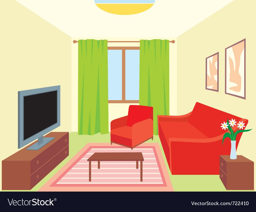 Living Room Vector Image On Living Room Vector Living Room
