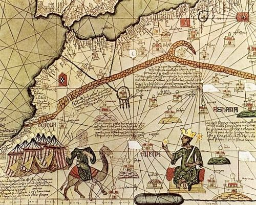 Map of the ancient empire of Mali, featuring Emperor Mansa Musa ...