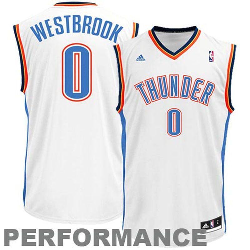 484dc302e756 Russell Westbrook Oklahoma City Thunder adidas Replica Home Jersey - White