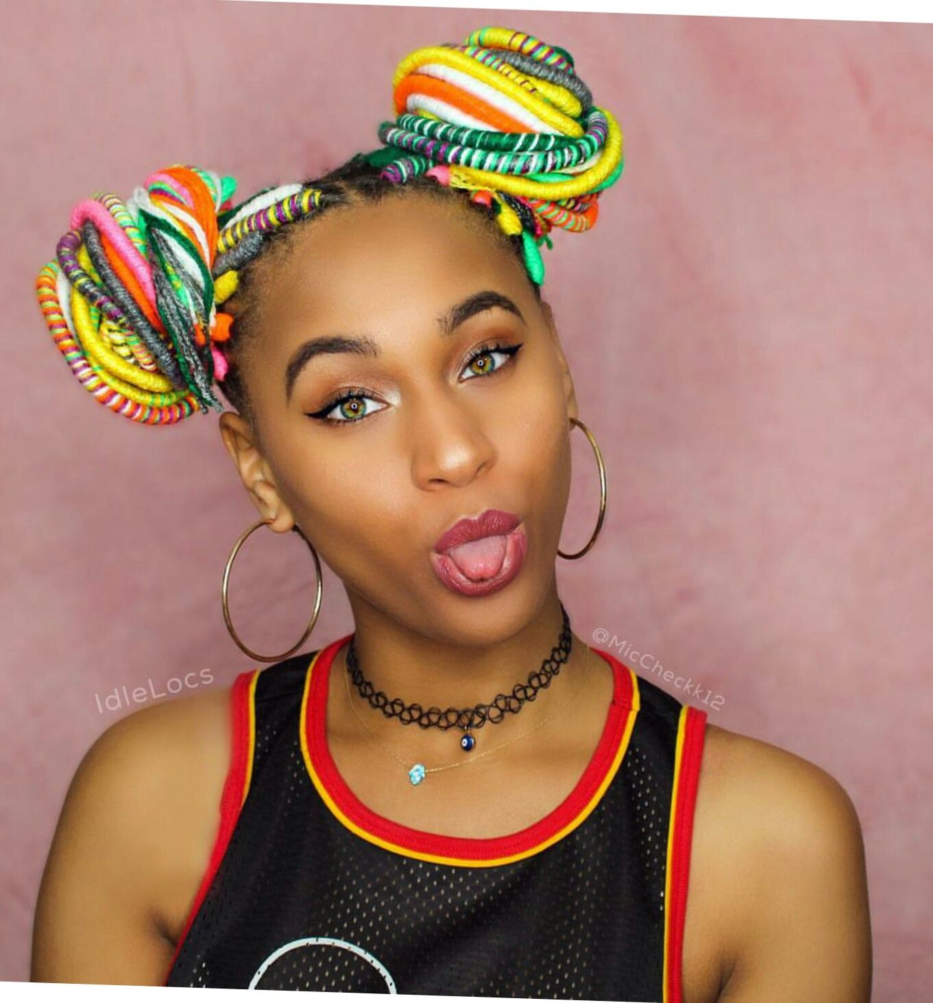 Coiffure Afro Nancy Rainbow Yarn Locs Cute For Teens Tresse Africaine