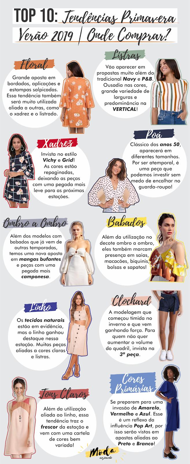 821bed644 As 10 principais tendências da Primavera Verão 2019!  trend  tendências   verão  primavera  2019  moda  linho  listras  floral  clochard  top10
