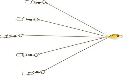 I would like to modify it for trout.  Designed to simulate a school of baitfish, this rig is deadly effective, even on the most finicky fish. It features five ultrastrong wires with swivels to attach a variety of baits. Durable construction provides long-term fish-catching performance. Can be used with a stout, standard rod.
