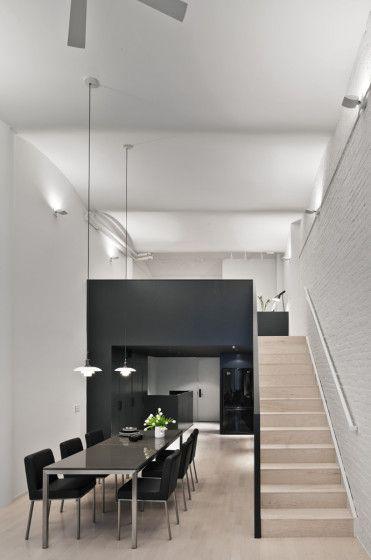 Decoración de interiores de apartamento pequeño con mezzanine - departamento de soltero moderno pequeo