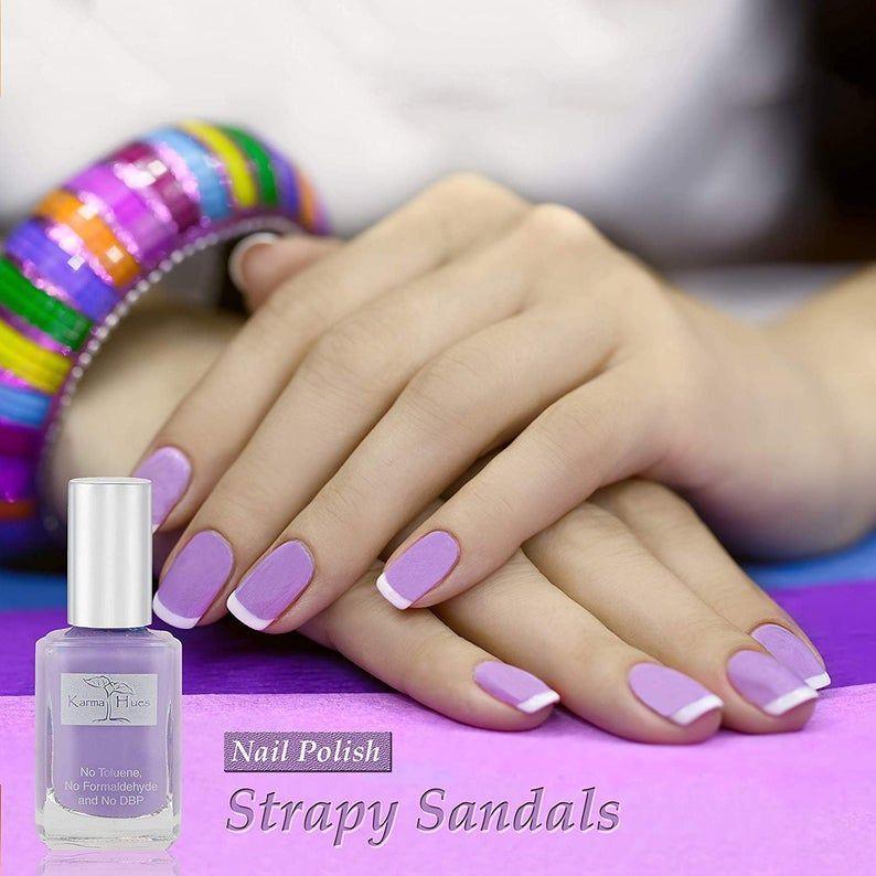 Karma Organic Natural Nail Polish Non Toxic Nail Art Vegan And Cruelty Free Nail Paint Strappy Sandals In 2020 Natural Nail Polish Natural Nails Organic Nails