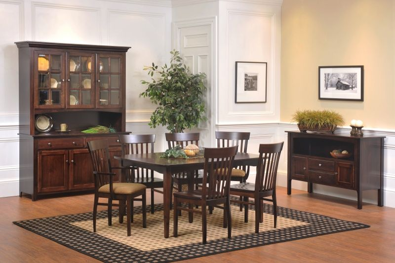 Carlisle Dining Collection Solid Hardwood Shown In Brown Maple Available In Dining Room Sets Affordable Dining Room Sets Wood Dining Room Furniture