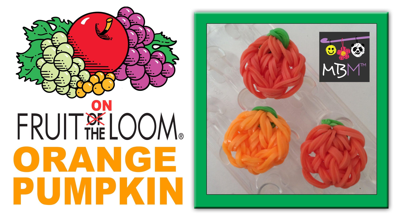 Rainbow Loom Fruit ON the Loom Charms - Orange, Pumpkin or Circle