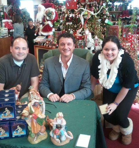 couple enjoys meeting with mrfontanini at noel christmas store in dallas tx fontanini - Noel Christmas Store