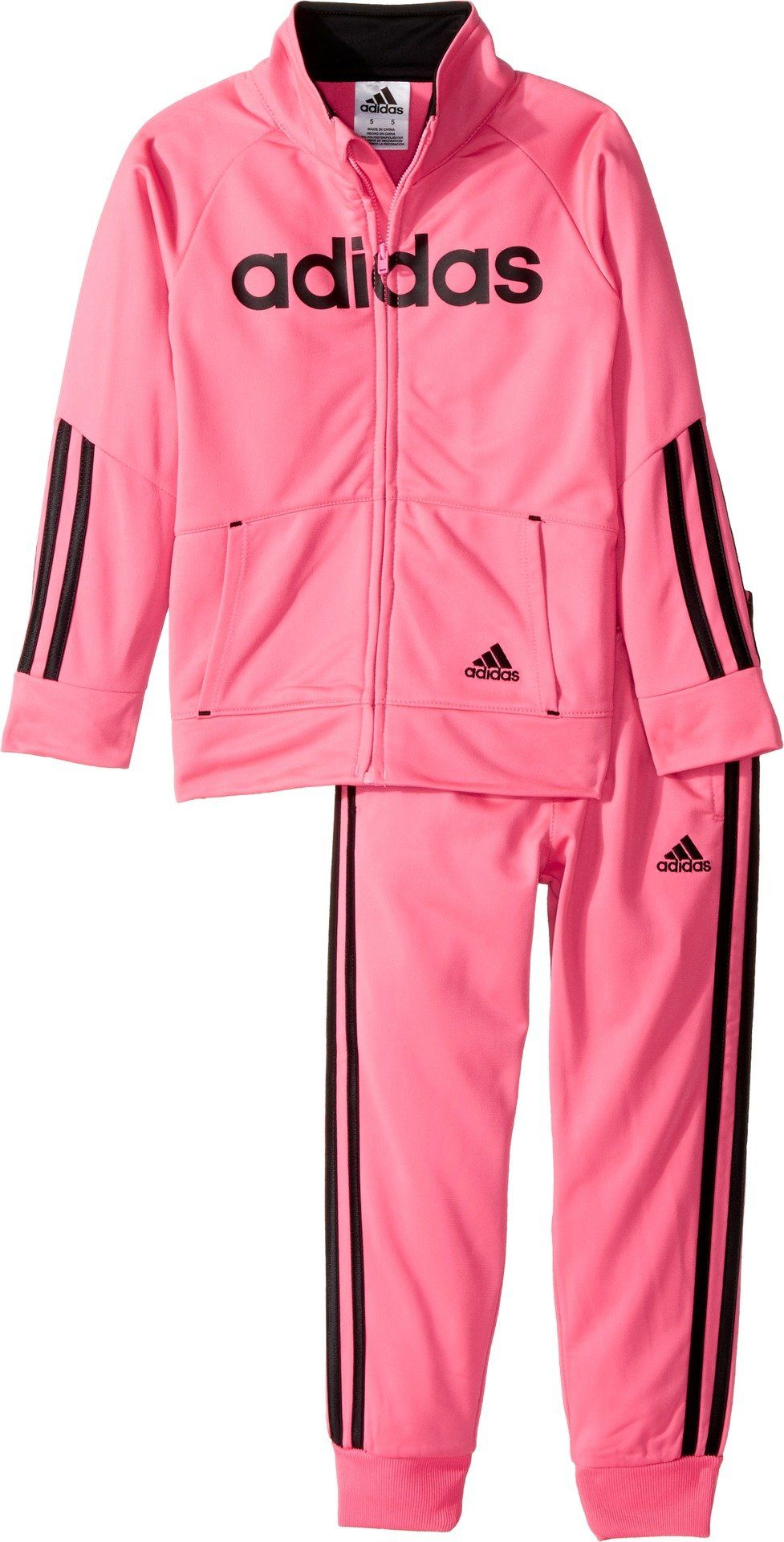 d1cf53b5b adidas Kids Baby Girl s Linear Tricot Jacket Set (Toddler Little ...