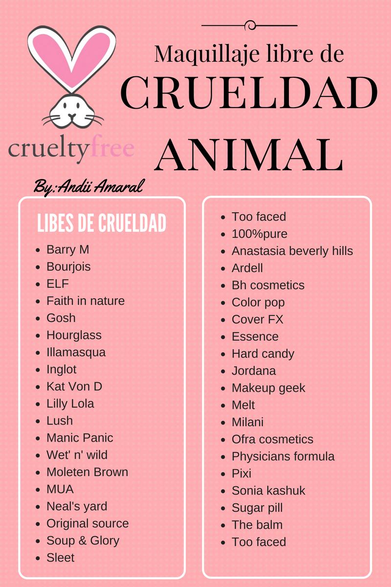 Marcas de maquillaje libres de crueldad / cruelty free makeup brands ...
