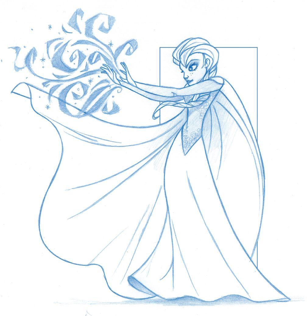 Coloring pages queen elsa - Elsa Frozen Disney Sketches Disney S Frozen Elsa The Snow Queen By Kingolie