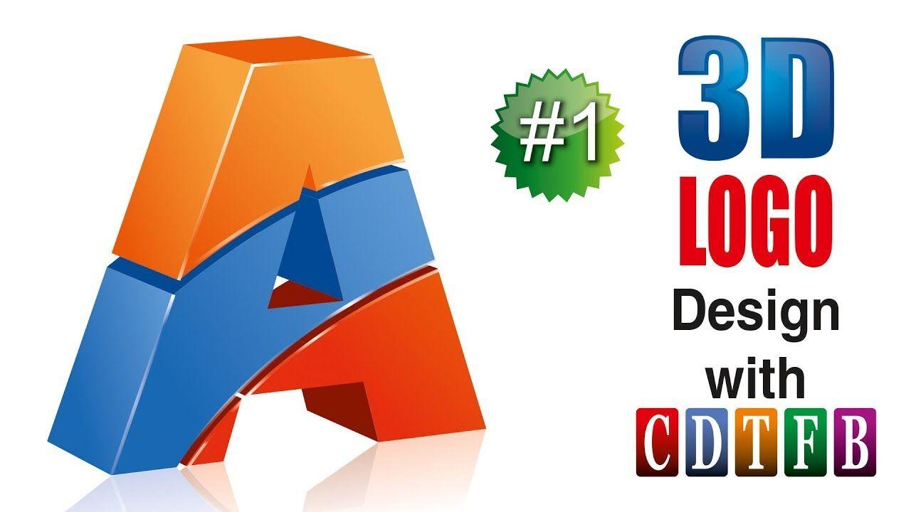 "3d ""A"" Alphabet logo Design in corel 20 | with CDTFB | corel draw in"