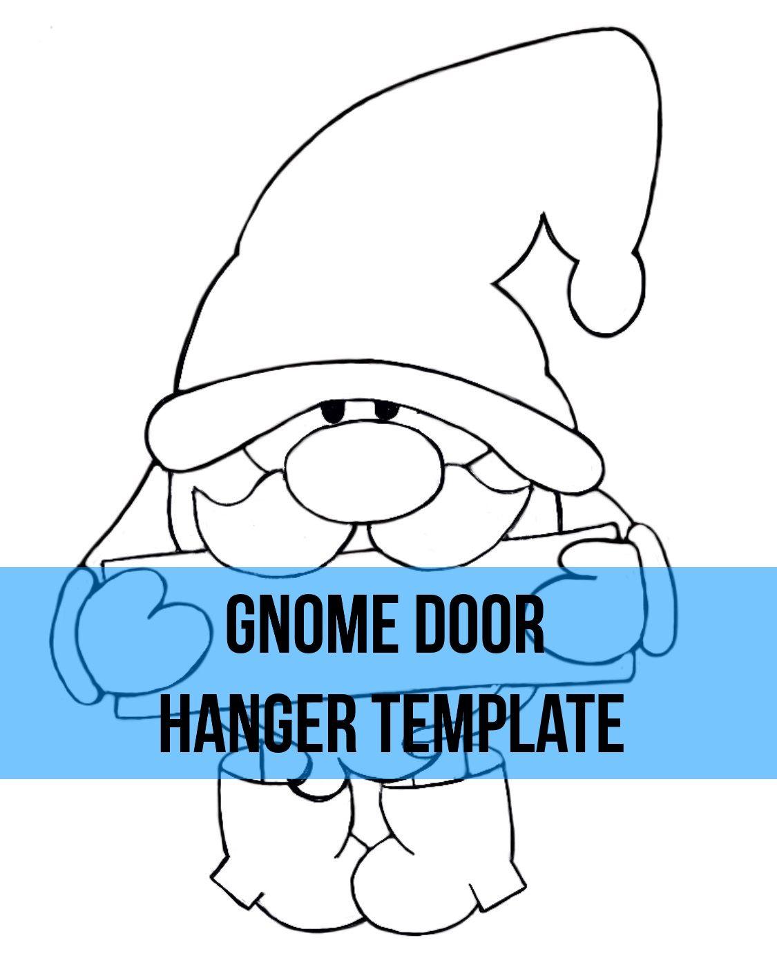 Gnome Door Hanger Wreath Attachment Template Door Hanger