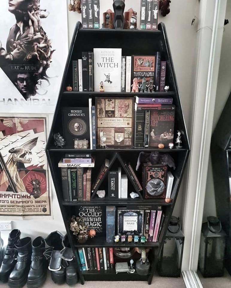 I Love This Bookcase Goth Home Decor Gothic House Gothic Home Decor