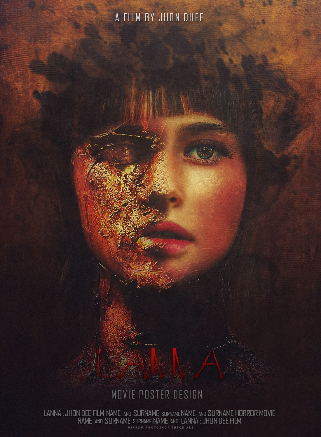 Poster design in photoshop - This Is A Horror Movie Poster Design Entitled Lanna In This Tutorial I