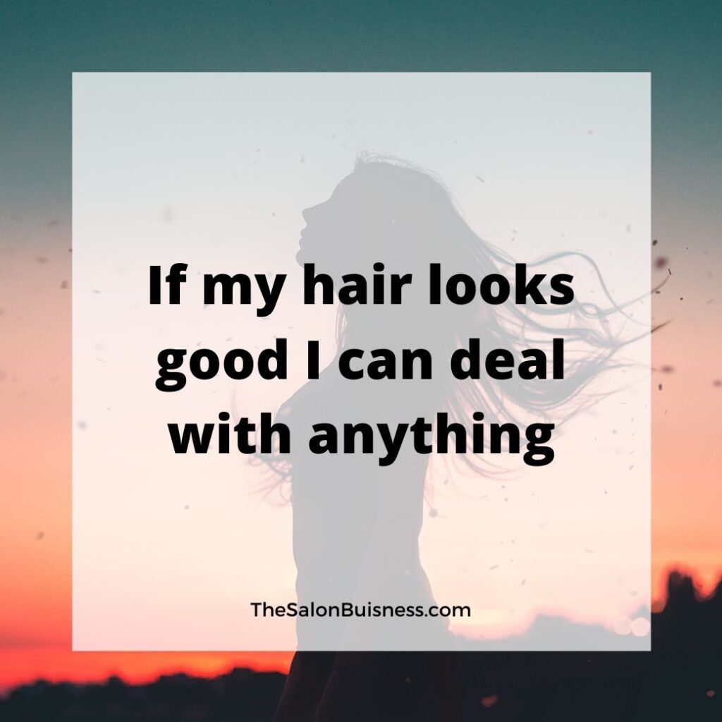 Woman Standing In Sunset With Hair Blowing Hair Quote In 2020 Hairstylist Quotes Cosmetology Quotes Funny Hairstylist Quotes